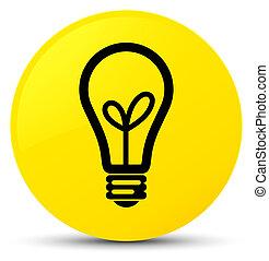 Bulb icon yellow round button
