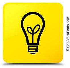 Bulb icon yellow square button