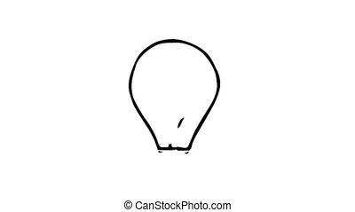 bulb idea concept. Bubble speech with light bulb.