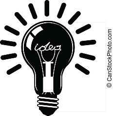 Bulb idea conception vector eps 10