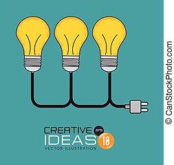 bulb idea creative isolated design