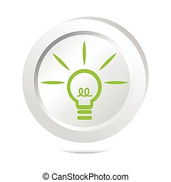 Bulb, idea sign button icon