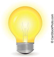 Bulb - Vector Light bulb isolated on white