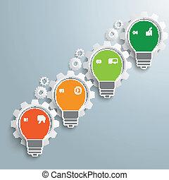 Bulb Infographic Gear Machine Growth