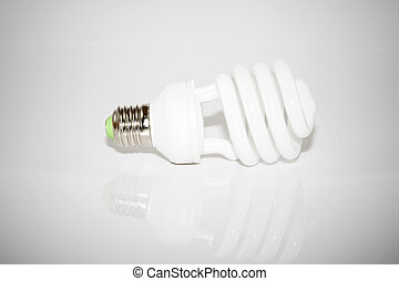 bulb lamp on whit background with vignette effect