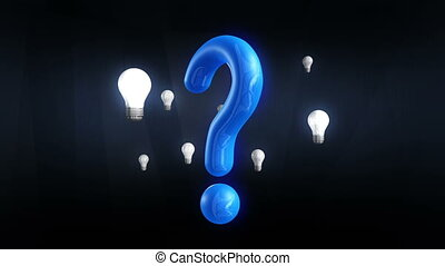 Bulb light around question mark