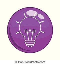 bulb light button icon