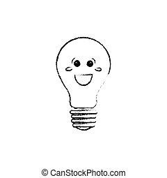 Bulb light cartoon