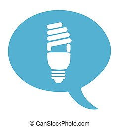 bulb light eco energy icon