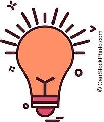 bulb light icon vector design