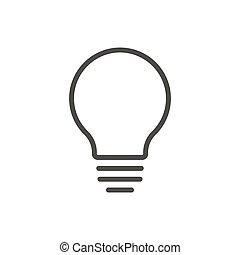 Bulb light icon vector. Line idea symbol.