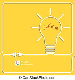 Bulb light idea. Concept of big ideas inspiration...