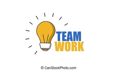 bulb light idea creativity team work