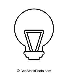 bulb light idea isolated icon