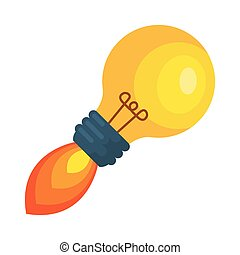 bulb light idea launcher vector illustration design
