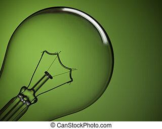 Bulb light over green