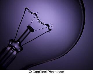 Bulb light over purple