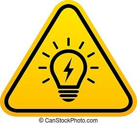 Bulb light vector icon