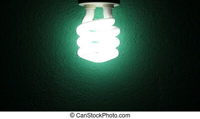 Bulb Lighting On A Wall