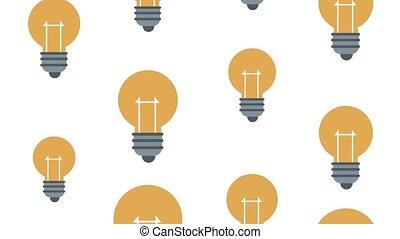 Bulb lights background HD animation - Bulb lights pattern...