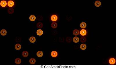 Bulb lights. Flickering abstract background. Digital...