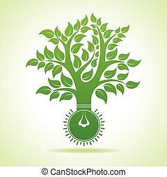 Bulb make Abstract Tree Design