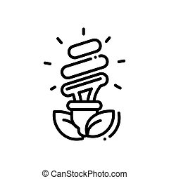 Bulb - modern vector single line icon