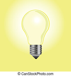 bulb of yellow background