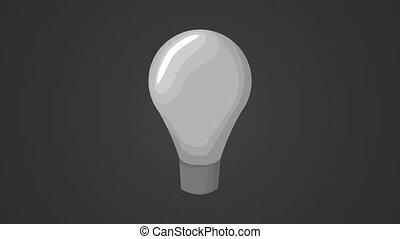 Bulb on with hand HD animation - Bulb goes off to on...