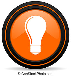 bulb orange icon idea sign