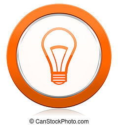 bulb orange icon light bulb sign