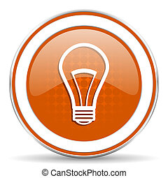 bulb orange icon light bulb sign
