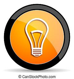 bulb orange icon