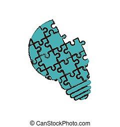bulb puzzle pieces image