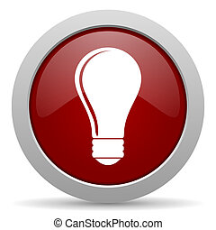 bulb red glossy web icon