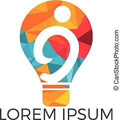 Bulb solution logo design.