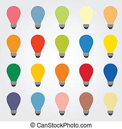 bulb - colorful idea bulb background