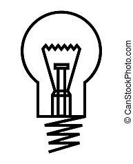 Bulb vector icon