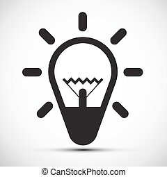 Bulb Vector Simple Icon Illustration