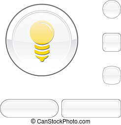 Bulb white button.