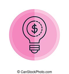 bulb with coin money