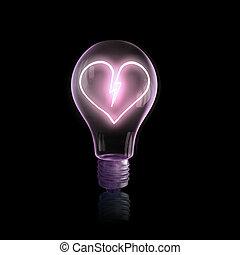 Bulb with heart