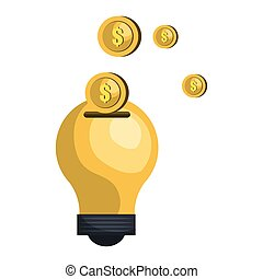 bulb with money coin
