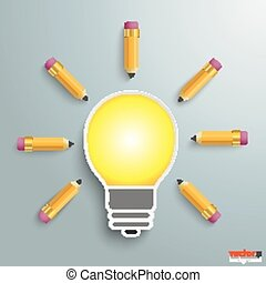 Bulb With Pencils