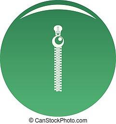 Bulb zip icon vector green
