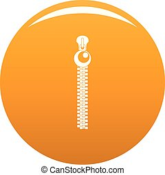 Bulb zip icon vector orange