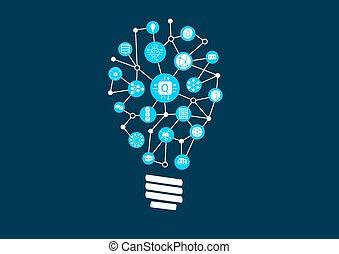 bulb1, arreglado, iconos, luz, informática, ilustración,...