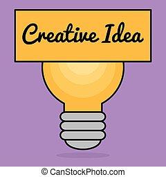bulbo, conceito, idéias, criativo