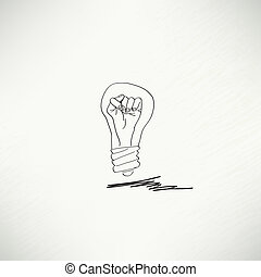 bulbo, concetto, idea, icona