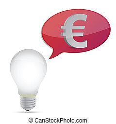 bulbo, energia, poupar, euro